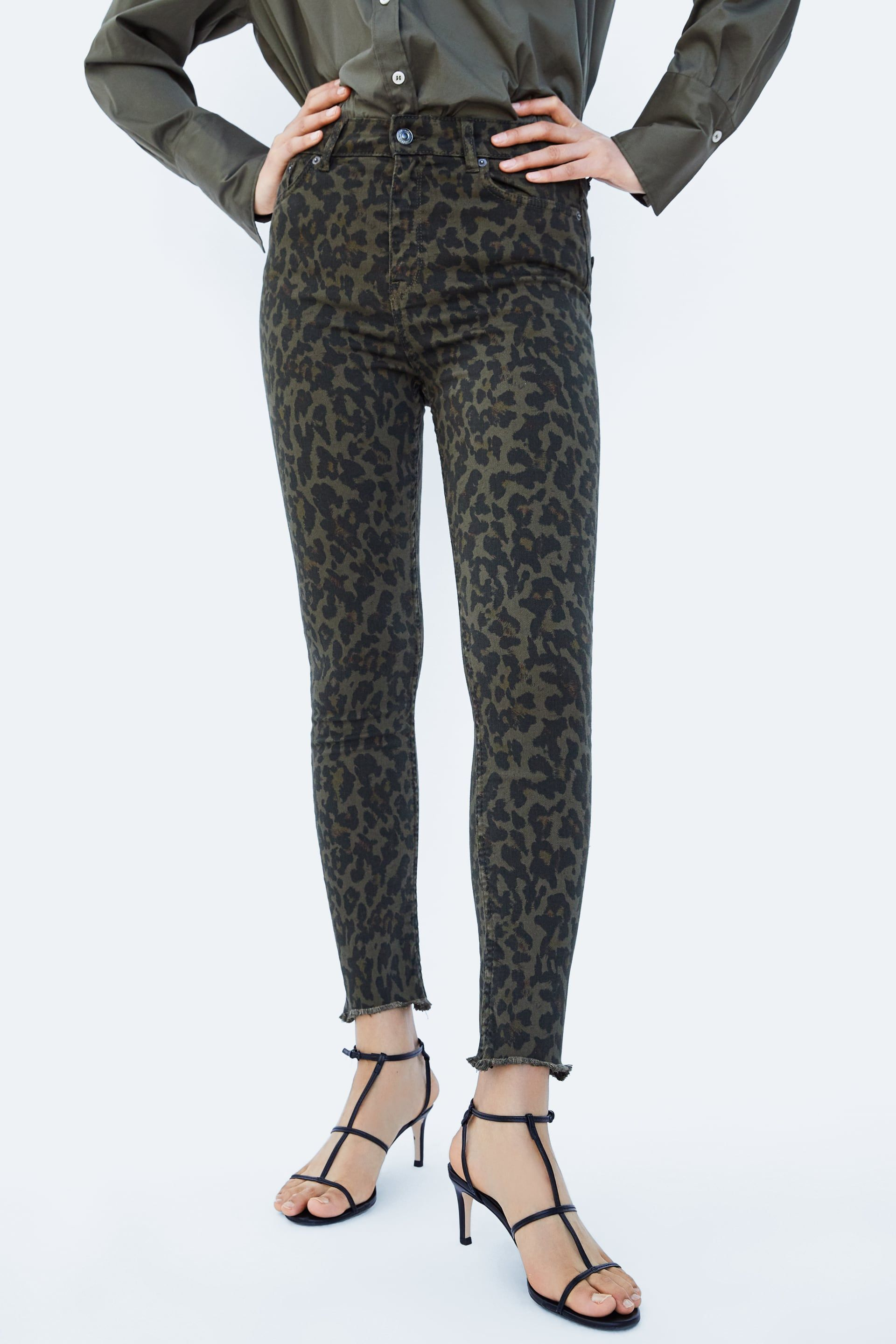 02f24ca2 Image 2 of HIGH-WAISTED PREMIUM ZW LEOPARD PRINT JEANS from Zara ...