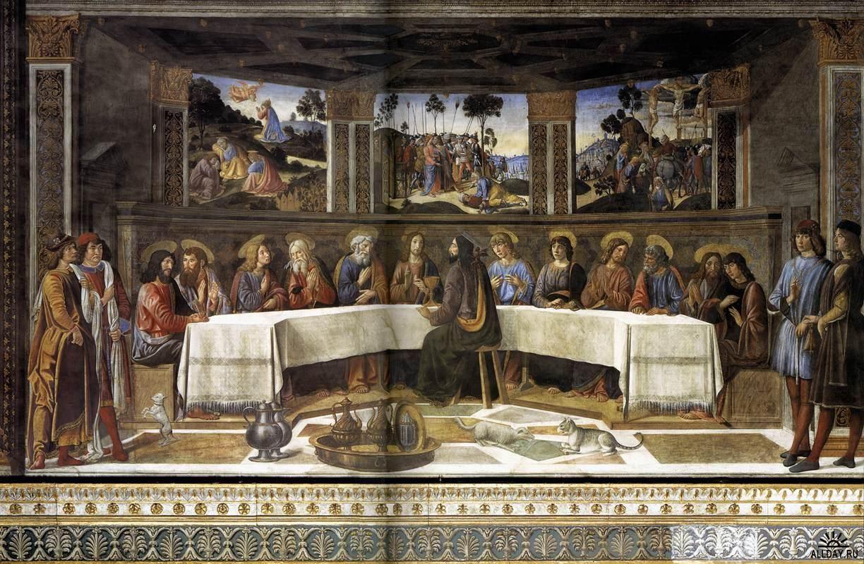 The Last Supper by Cosimo Rosselli, 1481-1482 | Chapelle sixtine, Art de la renaissance et ...