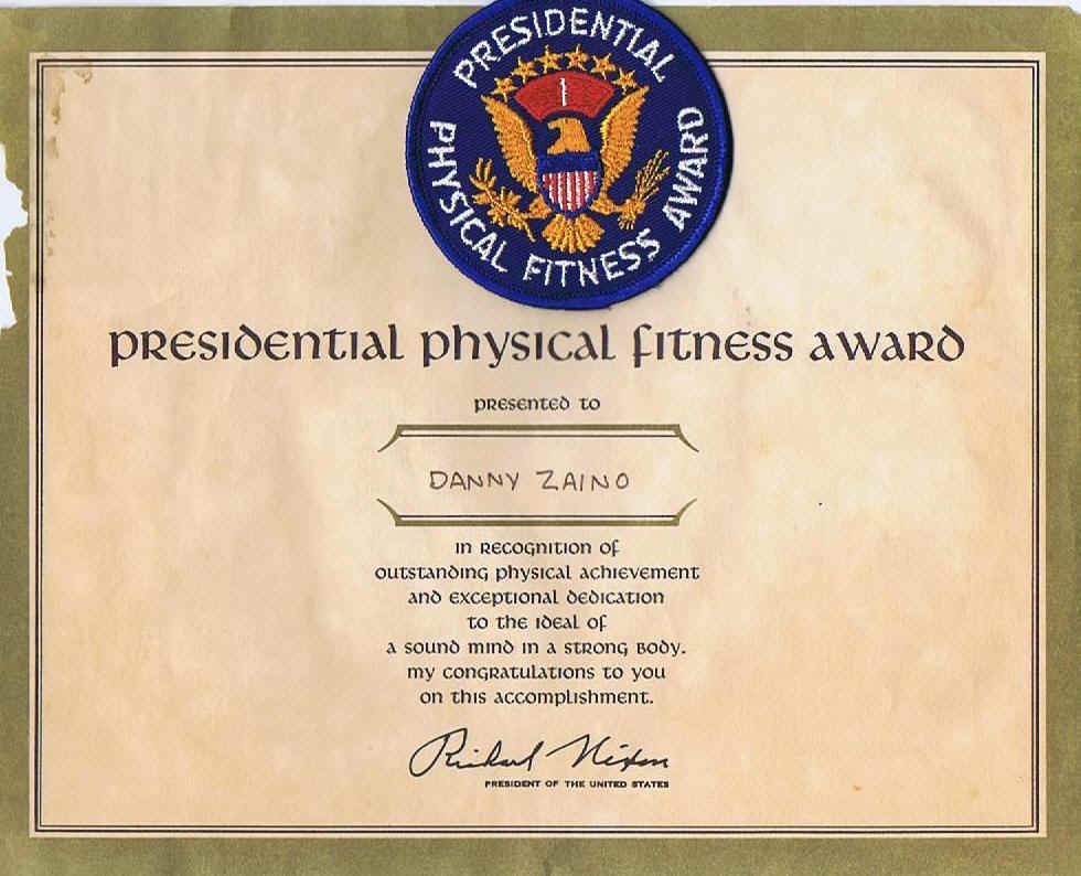 Presidential Physical Fitness Award Got One Just Like This