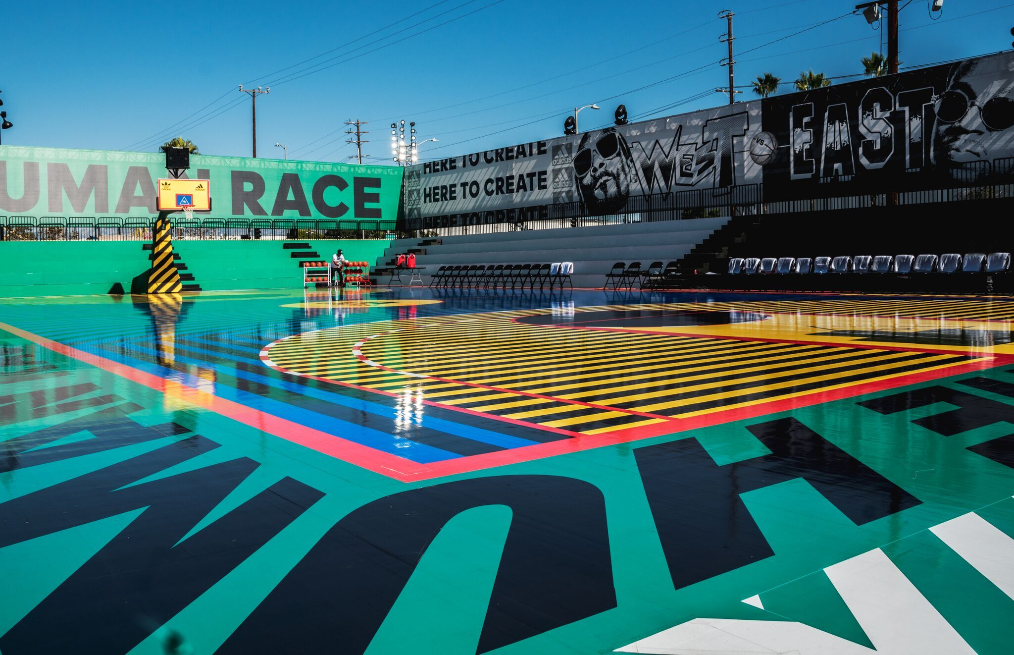 An Exclusive Preview Of Adidas 747 Warehouse St Stadium Architecture Outdoor Basketball Court Parking Design