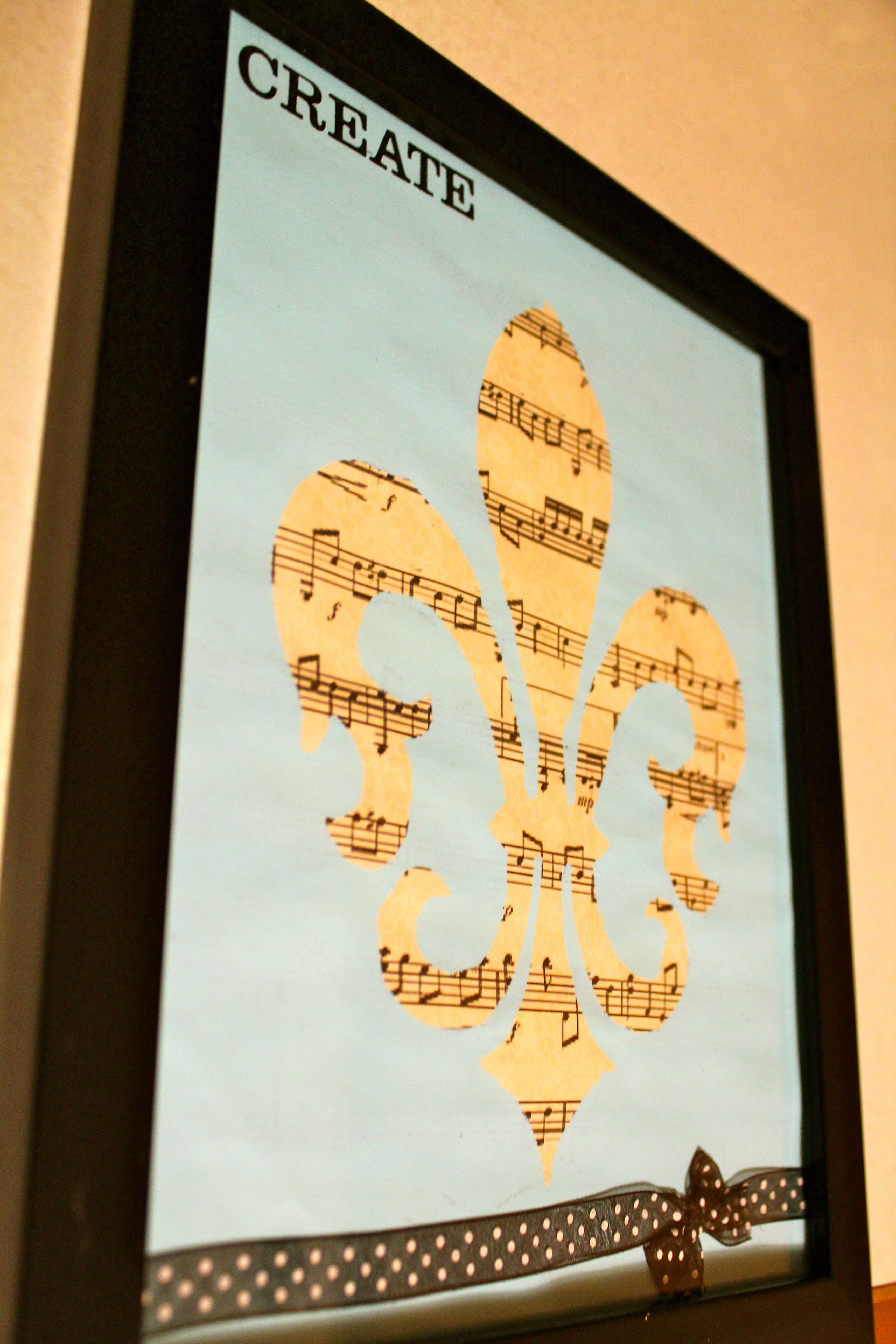 stencil over sheet music....would be pretty over any scrapbook paper ...