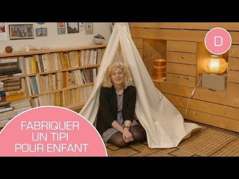 Tuto Do It Yourself La Chambre Cocooning La Maison Des Maternelles Youtube Avec Images Fabriquer Un Tipi Un Tipi Tipi Enfant