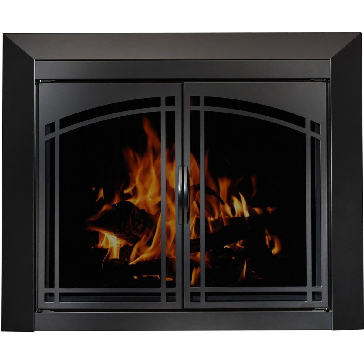 The Manassa Masonry Fireplace Door Beautiful Arched Plate Design On A Steel Welded Durable Frame Fireplace Doors Fireplace Glass Doors Masonry Fireplace