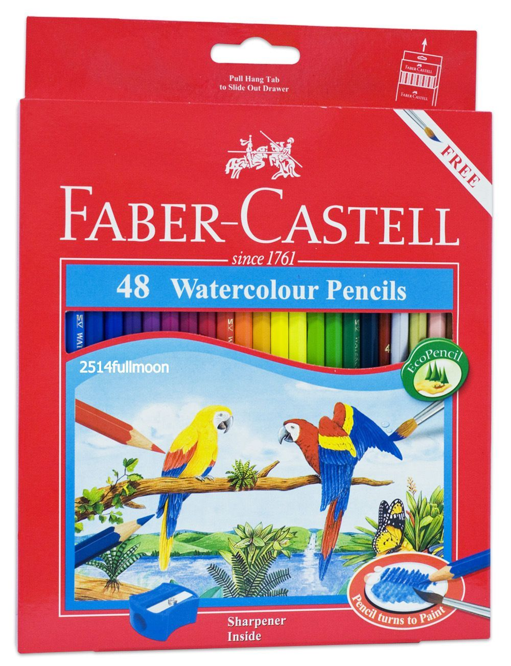 1 Box Faber Castell 48 Watercolor Pencils Coloured Pen 48 Pcs