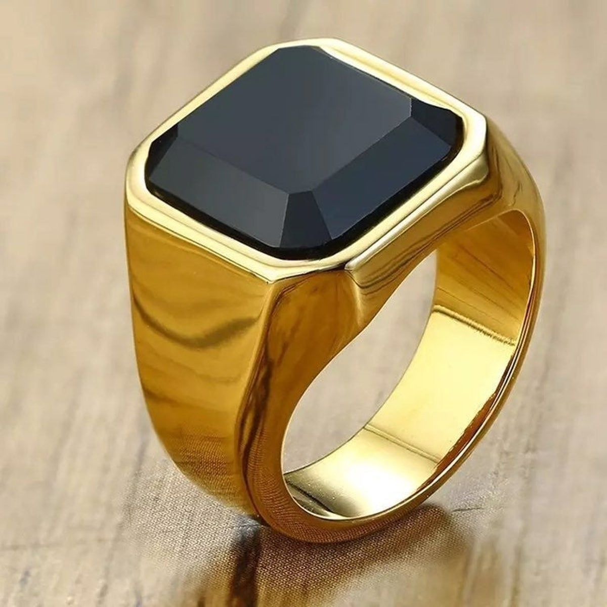 Mens Ring Gold Plated Stainless Steel Si In 2020