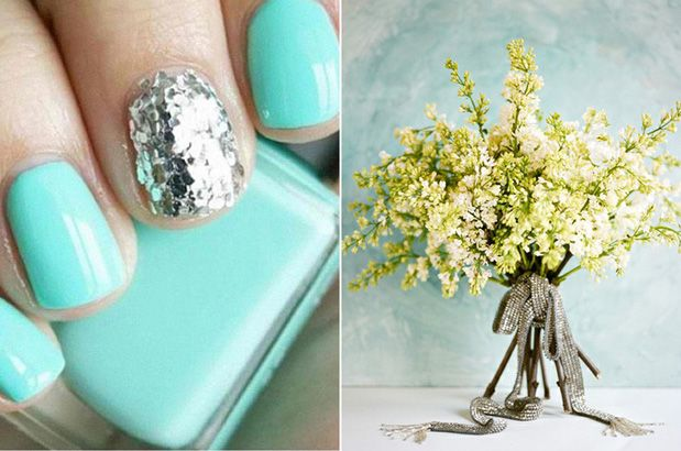 wedding nails? maybe w/ a diff color than this but I like the one sparkle nail