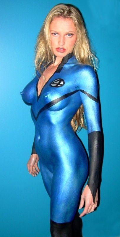 Right! Super hero girls naked body paint