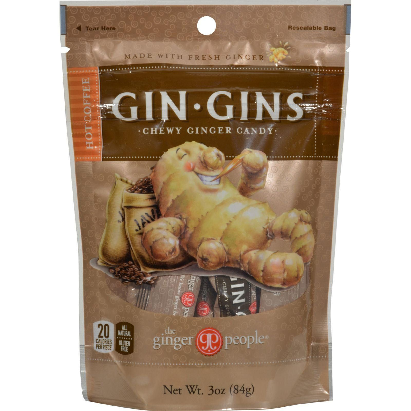 Ginger people gingins chewy hot coffee bags case of 24