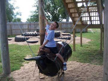 Barrel Bull Swing Backyard Decor Orlando Kids Outdoor