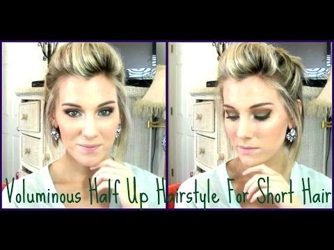 Ways To Style Short Hair Voluminous Half Up Style For Short Hair A Line Bob  Youtube  Bob