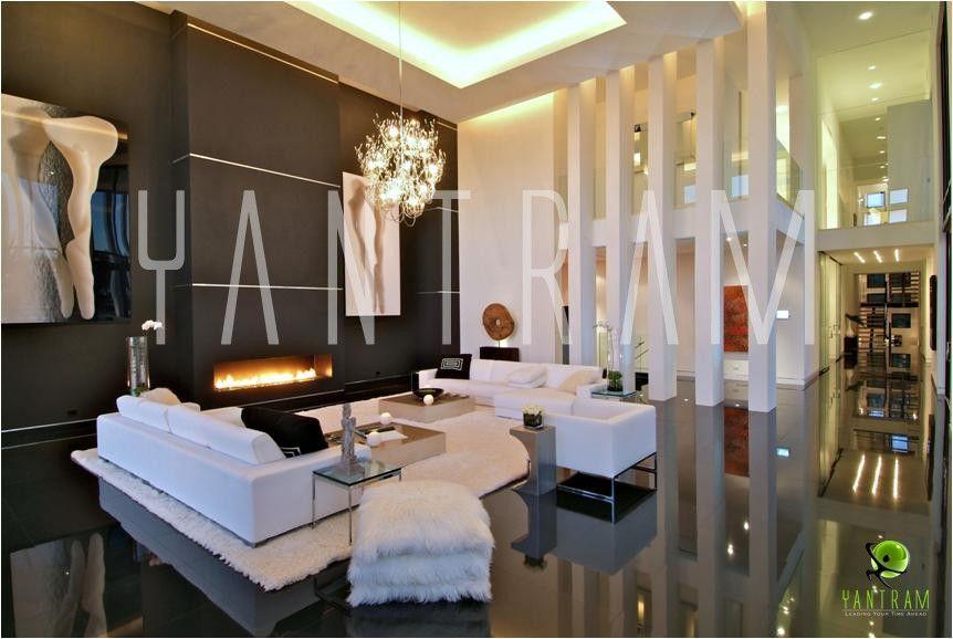 Mordern Design For 3D Living Interior Rendering Virtual House Tour Foshan,  China