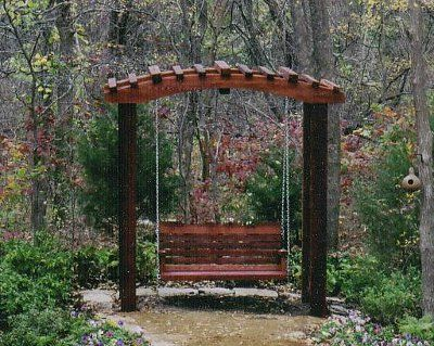 Japanese pergola swing backyard pinterest pergola for Japanese garden trellis designs