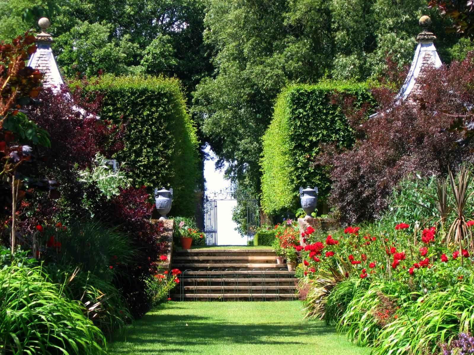 Jardines decorados paisajes plantas y flores para imagen - Paisajes y jardines ...