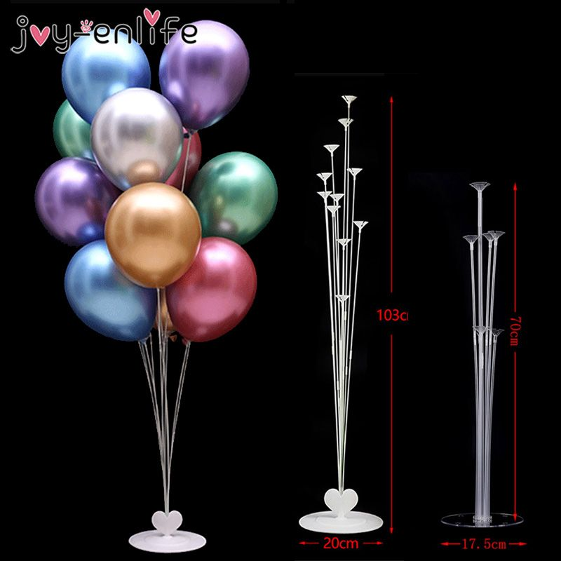 1 Base 7 Sticks Wedding Balloon Base Table Support Holder Cup Stand Party Decor