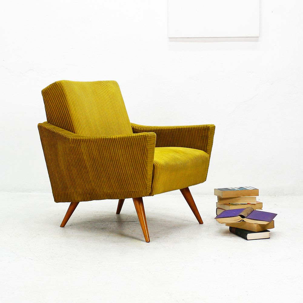 yellow chairs for sale faux fur chair throw mustard club 1950s 1 design sofas benches