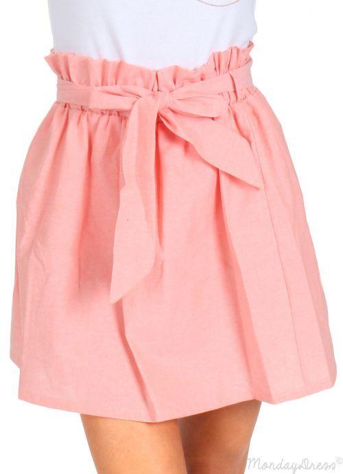 Let Your Love Flow Pink Bow Tie Skirt   Monday Dress Boutique
