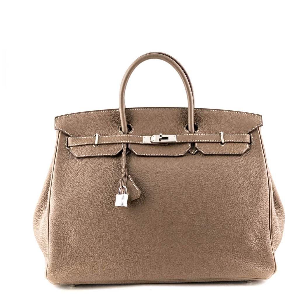 Hermes Etoupe Togo Birkin 40 Secondhand Hermes Birkin Canada Iconic Bags Bags Used Designer Handbags
