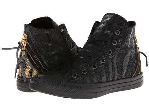 7de3e9085d13 Converse Chuck Taylor All Star Animal Print Tri Zip Hi - subtle animal print  - just right - 3 stylish zippers in back with a touch of gold print - cute!