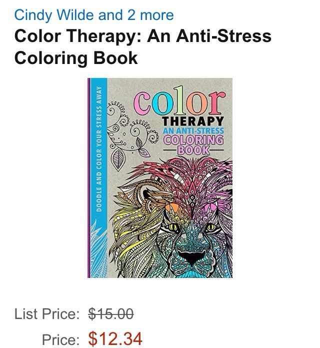 An anti stress coloring book. want want want