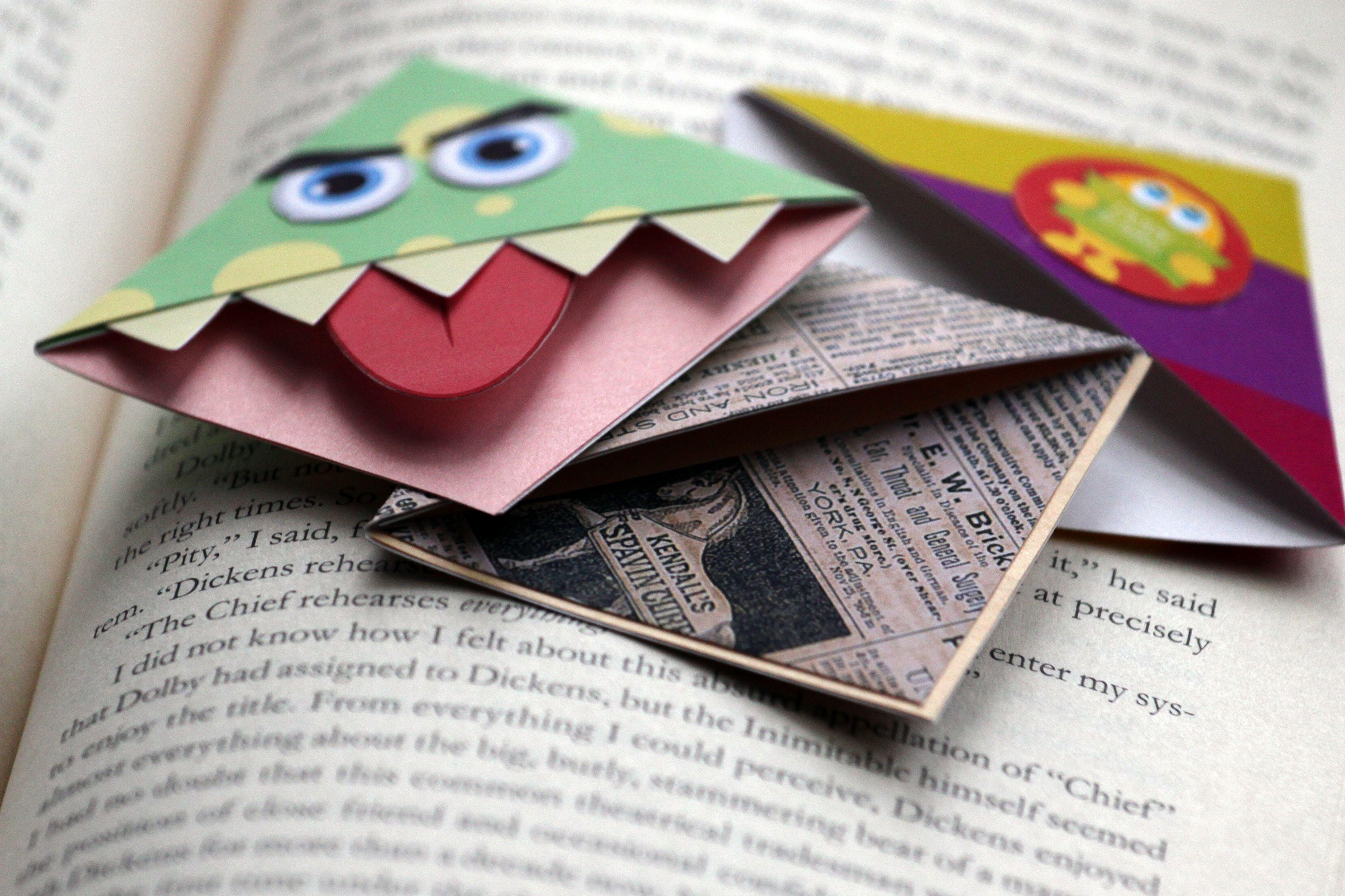 make corner munch bookmarks   bookmarks, corner and corner bookmarks