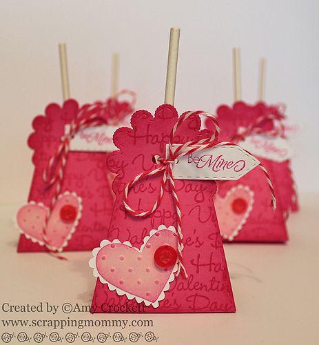 Stitched Lollipop Holder die | Crafts | Valentine gifts