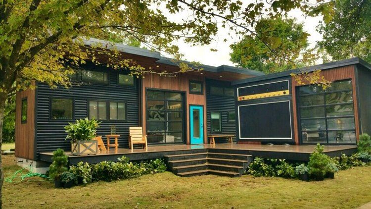 This Super Cool Tiny House Is Actually A Working Amp That Can Be Taken On The Road Best Tiny House Tiny House Exterior Shed To Tiny House