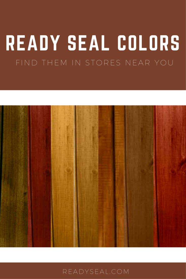 Find A Store With Ready Seal Stain And Sealer Staining