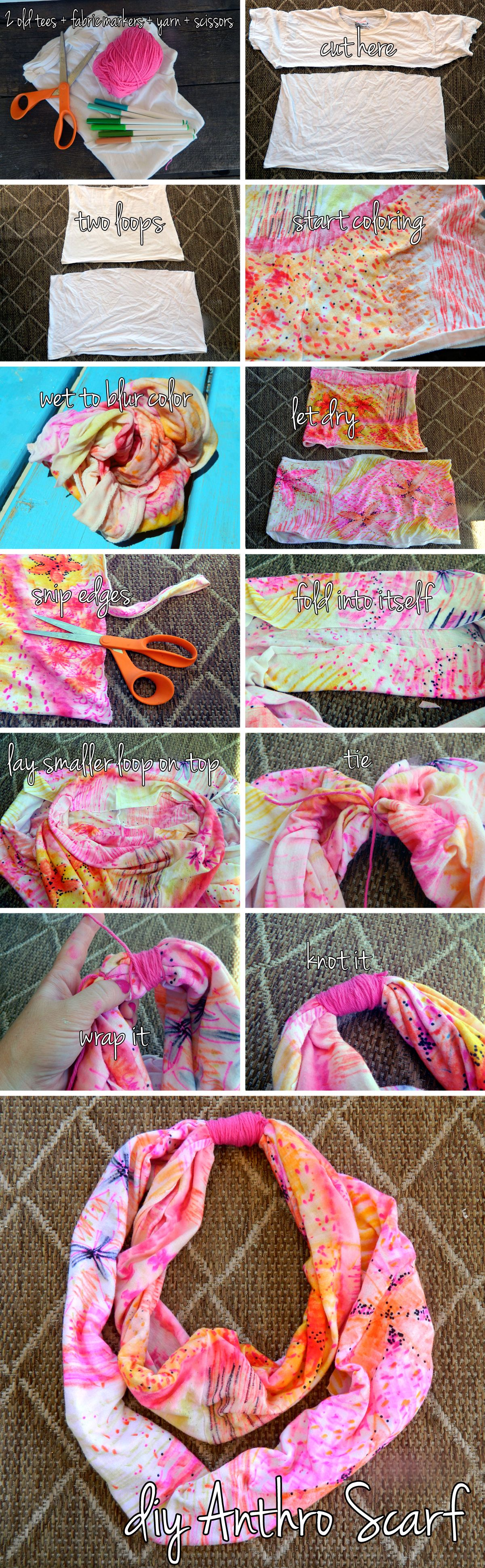 DIY Anthropologie Scarf