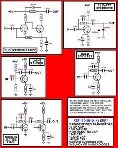 cfl to effect pedal diagrams guitar pinterest rh pinterest com