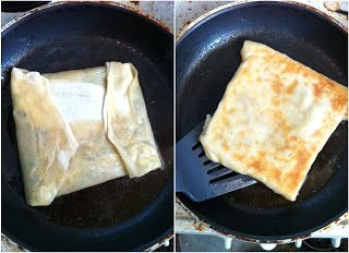 Martabak telur using roti