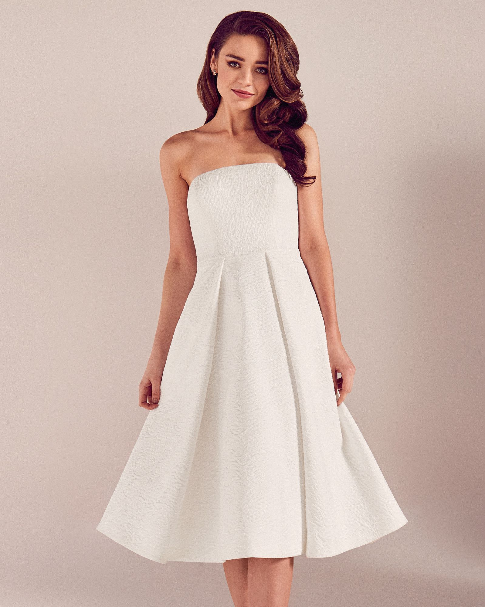 Jacquard midi wedding dress - White | SS17 Tie The Knot | Ted Baker ...