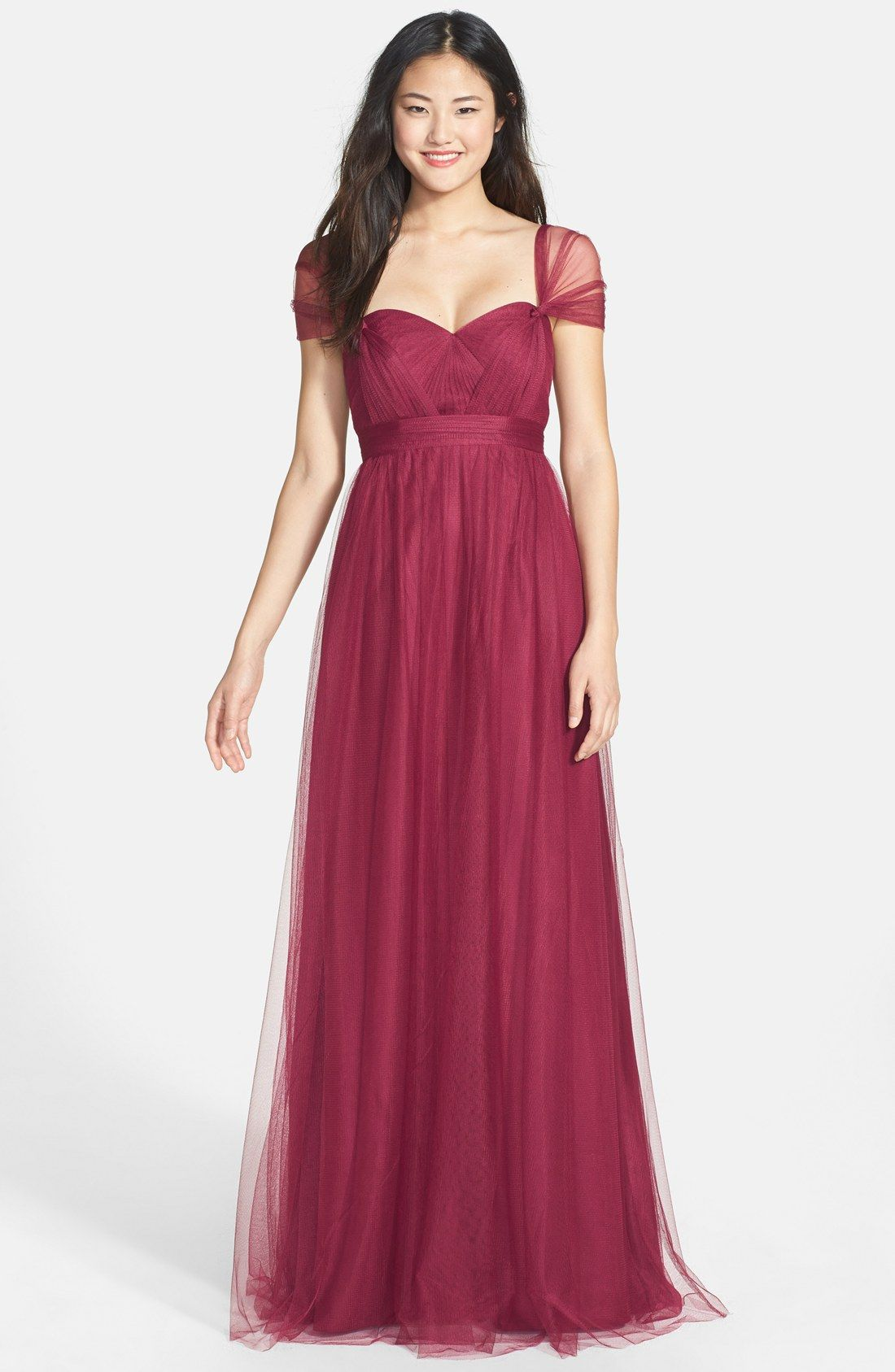 Jenny Yoo Annabelle Convertible Tulle Column Dress Nordstrom How The S Will Wear It