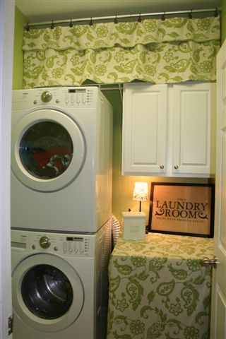 Asparagus Green Laundry Room Cute Curtains
