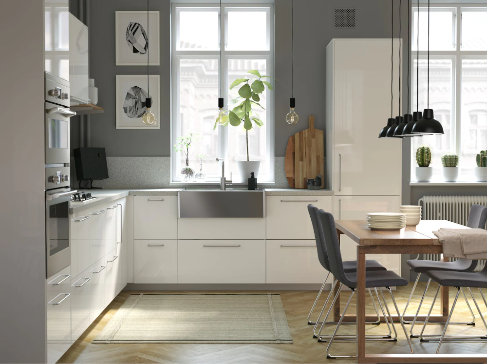 A Modern Bright And Airy Kitchen With Wooden Details Ikea Malaysia In 2020 Spacious Kitchens Kitchen Inspirations Countertops