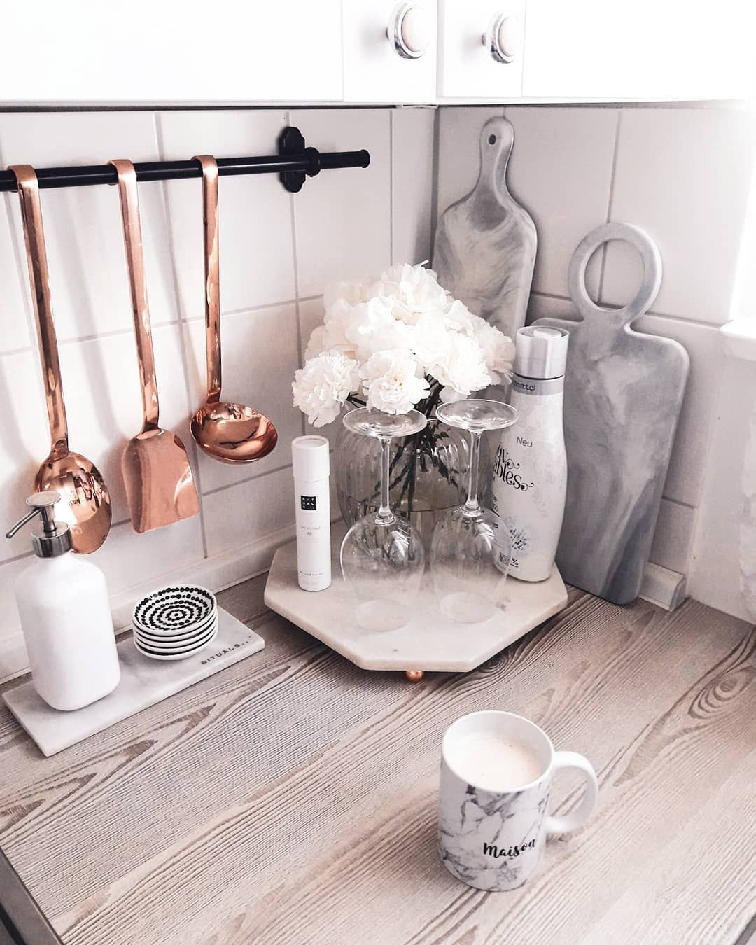 Pin by Julie on Kitchen Decor Themes in 10  Rose gold kitchen
