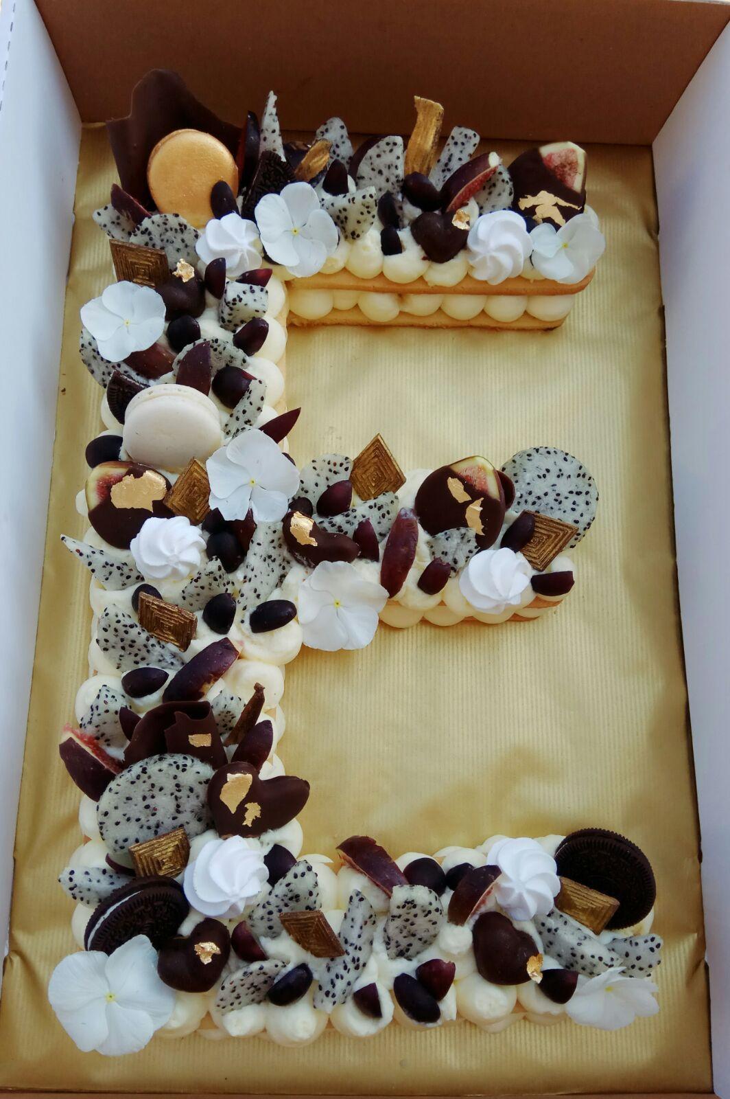 Fruit Cake Letter Cake Ecake Almont Tart Healthy Cake