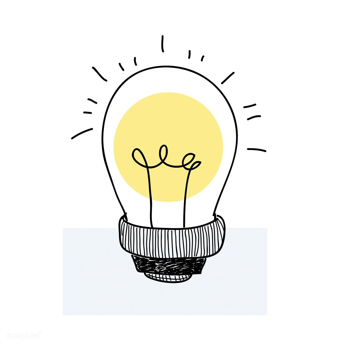Vector Of A Lightbulb Cute Stickers Aesthetic Stickers Doodles
