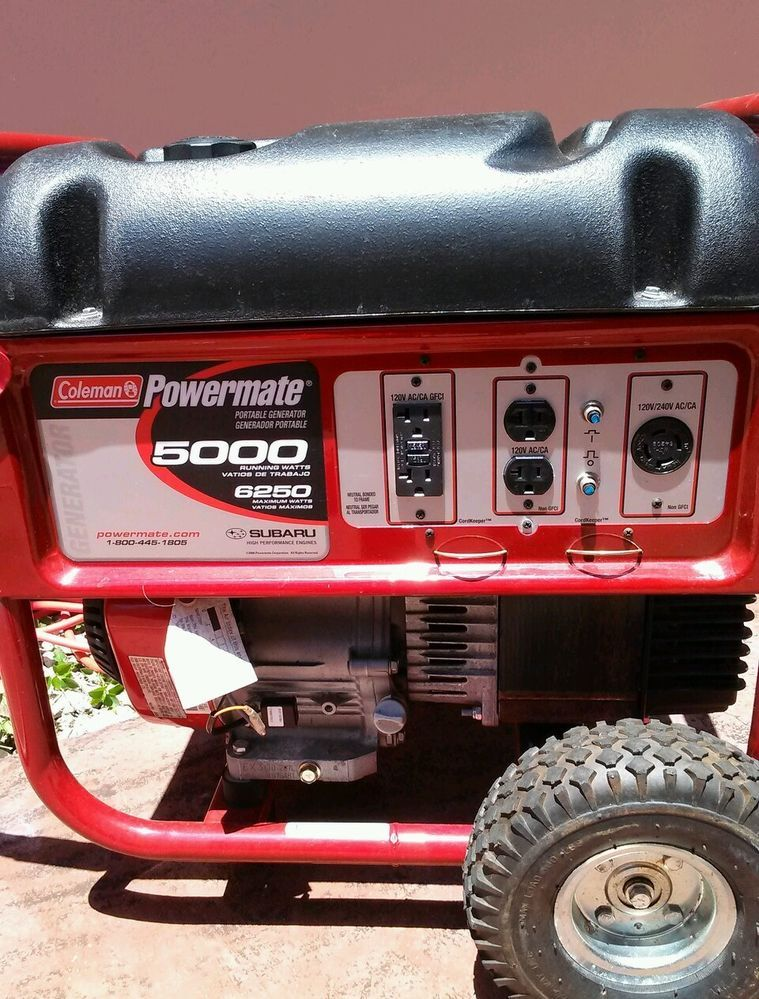 Coleman PowerMate 6250 10 HP Generator 5000 watts | Almost Over