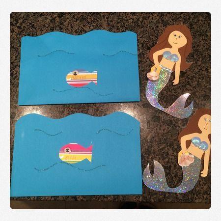 #Einladung Zum #Kindergeburtstag Mit Motto Meer Und #Meerjungfrau