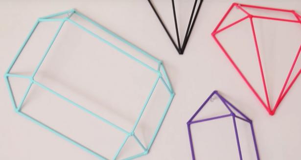 DIY: geometrische vormen voor aan de muur
