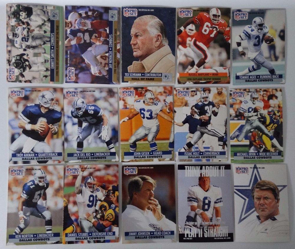 1991 pro set series 1 dallas cowboys team set 15 football