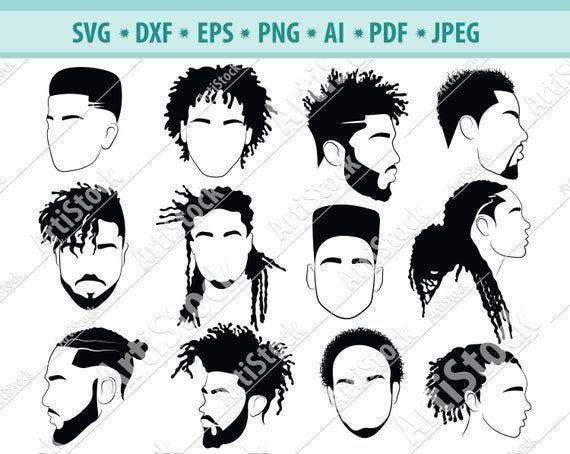 Afro Hairstyles Svg Black Man Bundle Svg Hair Dreadlocks Etsy Afro Hair Drawing Boy Hair Drawing Afro Hairstyles
