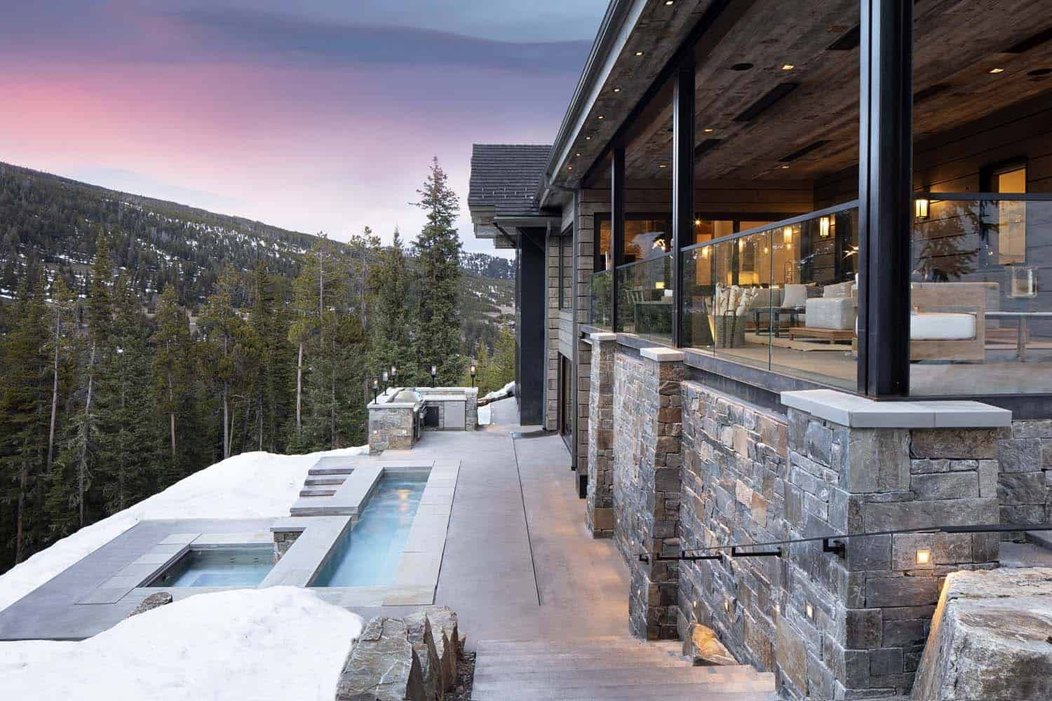 Modern-rustic home set amidst the grandeur of the Rocky ...