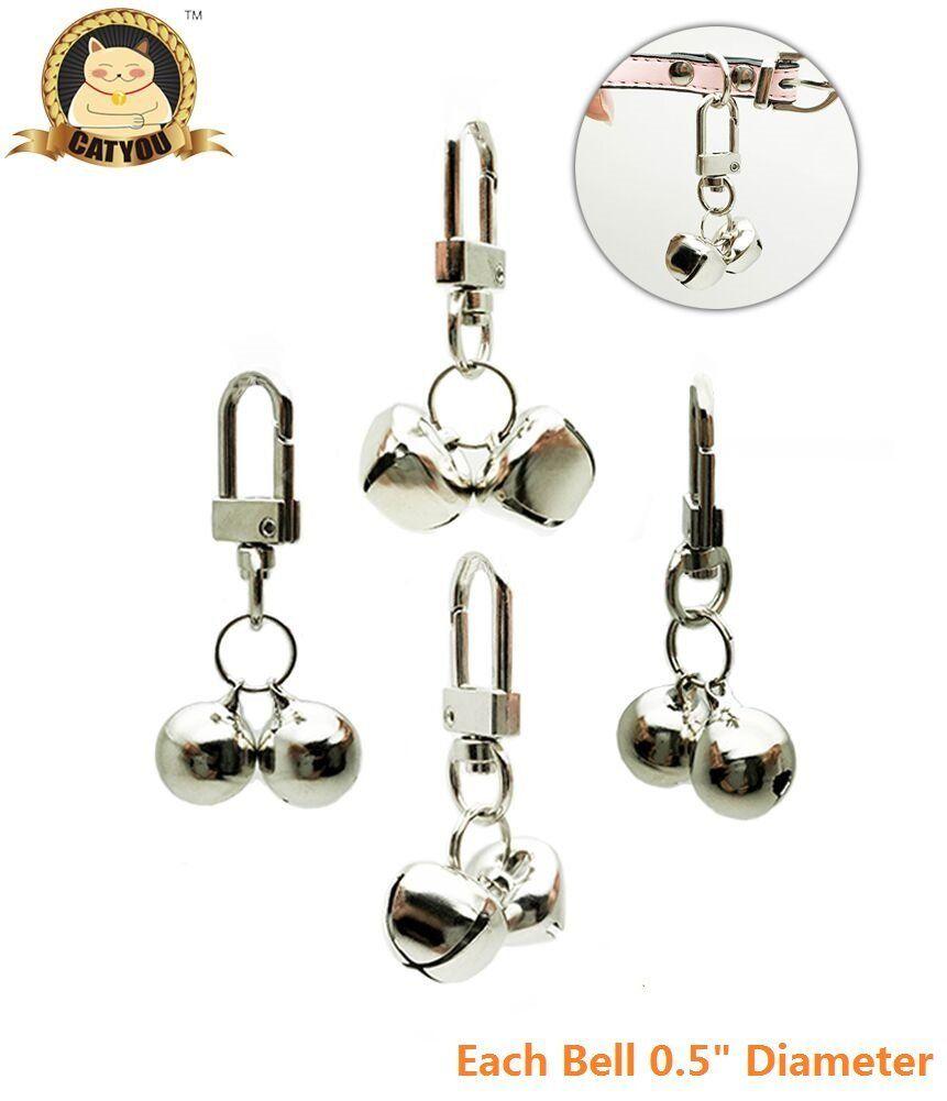 Catyou 4pcs pet small bells for collar pet ornament