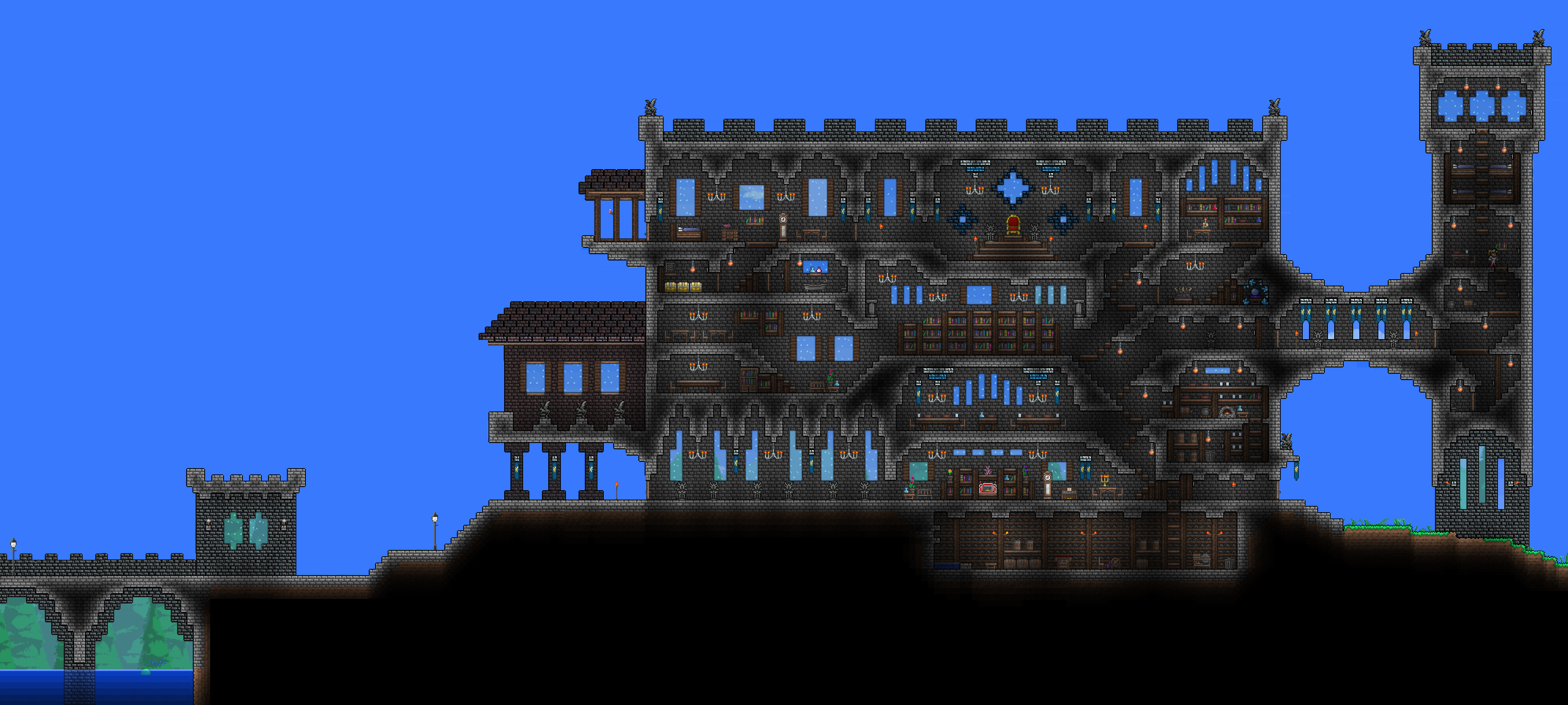 Terraria Simple Castle Imgkid