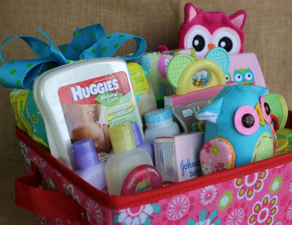 Baby Girl Gift Ideas: Precious Owl Themed Baby Girl Gift Basket In By