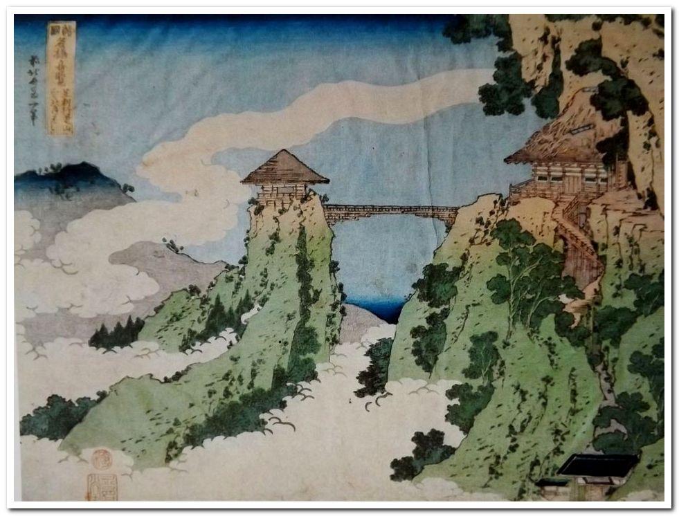 Hokusai, Katsushika. 9 Werke zu Leben und Werk des großen japanischen Ukiyo-e Künstlers. Mit Tausenden von meist farbigen Abbildungen und Tafeln. Gr.-8° bis 4°. OEinbände (selten mit Gebrauchsspuren oder Läsuren). 1930-2001.