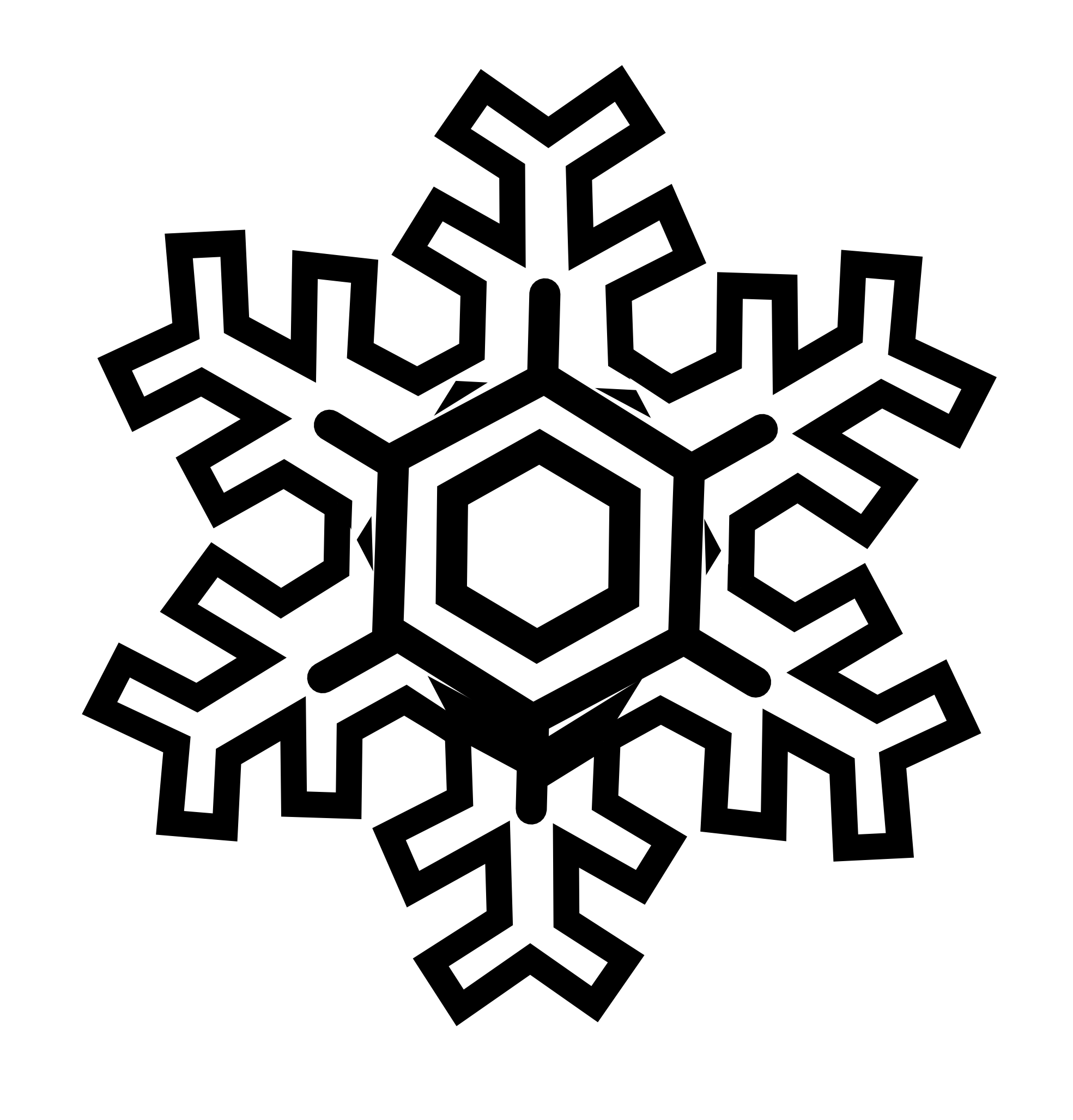 Clipart Snowflake Outline