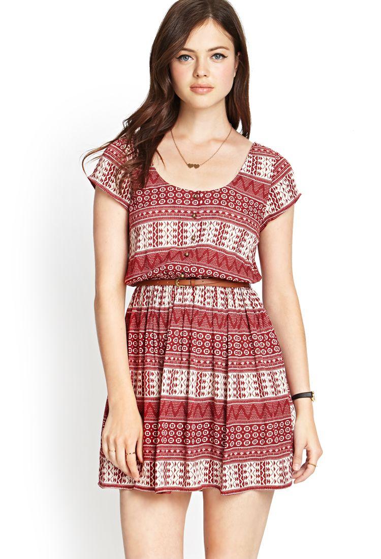 Buttoned Tribal Print Dress | FOREVER21 #SummerForever | dresses ...