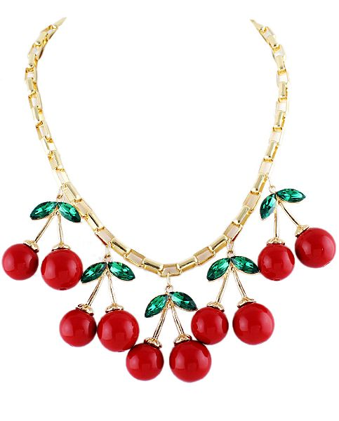 Shop Gold Diamond Red Glaze Cherry Necklace online. Sheinside offers Gold Diamond Red Glaze Cherry Necklace & more to fit your fashionable needs. Free Shipping Worldwide!